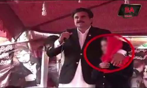 Video of PML-N senator 'groping' girl during Karachi protest sparks anger online