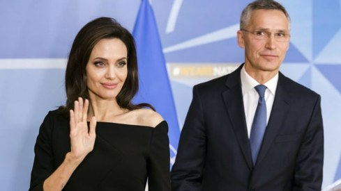 Angelina Jolie is joining hands with NATO to combat sexual violence