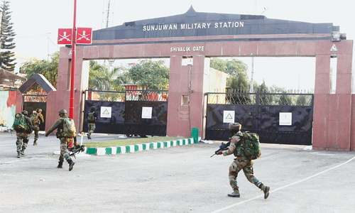 Two soldiers, as many fighters killed in attack on Jammu army base