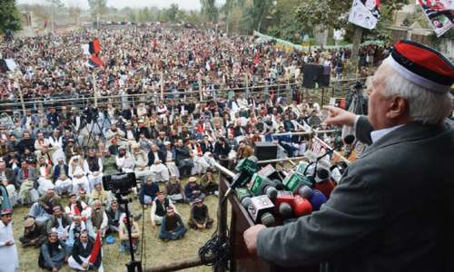 Sherpao blames centre for deprivations of Pakhtuns