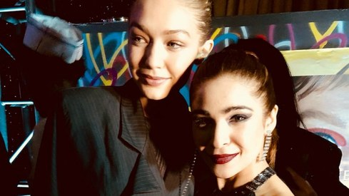 Ayesha Omar parties it up with Gigi Hadid at New York Fashion Week