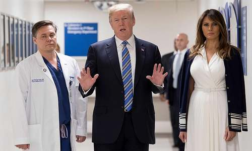 Trump visits mass school shooting survivors while FBI admits mishandling tips about shooter