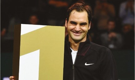 Federer at 36 becomes world's oldest No.1