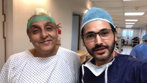 Fahad Mirza takes up the challenge to do Sajid Hasan's scalp reconstructive surgery