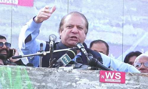 Nawaz thunders at opponents, vows clean sweep of 2018 election