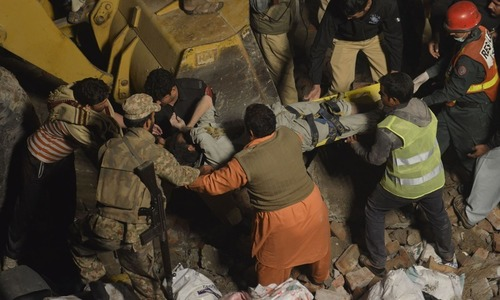 Six labourers killed in Kohat as gate collapses