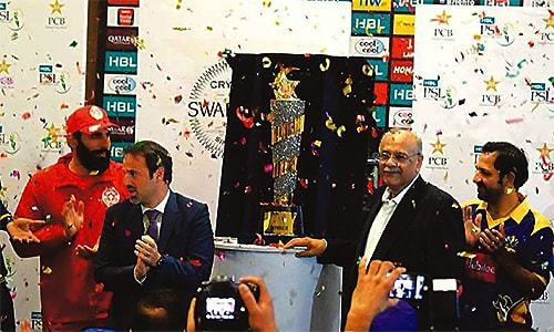 PSL trophy to be unveiled in Dubai tomorrow