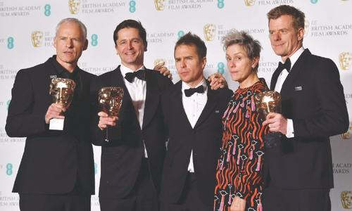 Three Billboards wins big at BAFTA; women highlight harassment