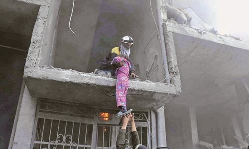Ghouta residents 'wait for death' amid holocaust
