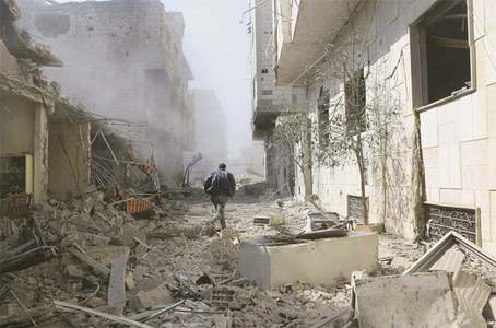 Assault on Syrian enclave kills over 400 in five days
