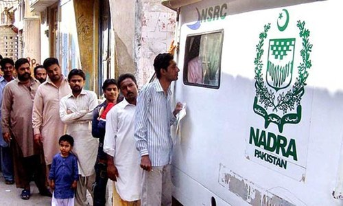 Nadra chairman pays surprise visit to mega centre, suspends two staffers over negligence