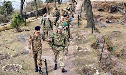Defence attaches of six countries visit LoC