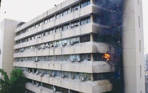 Fire erupts in secretariat building