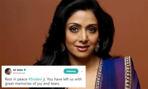 سری دیوی کے انتقال پر پاکستانی فنکار بھی افسردہ