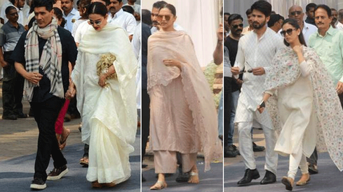 Bollywood celebs pay their last respects to Sridevi