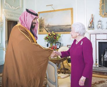 Saudi crown prince arrives to royal welcome in UK