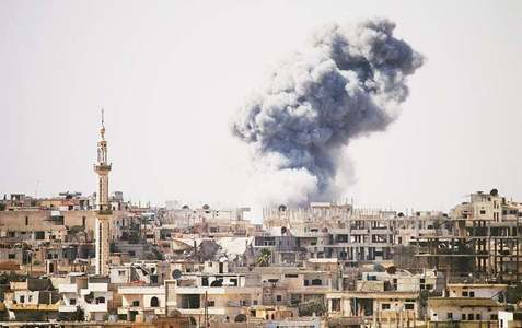 Rebel rocket fire kills 29 in Damascus suburb: Syrian state TV