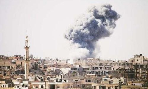 شام: باغیوں کے راکٹ حملے میں 29 افراد ہلاک