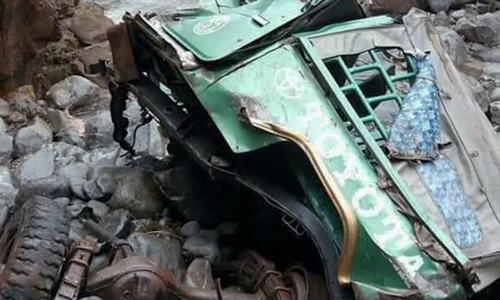 At least 9 killed in AJK as jeep plunges into ravine