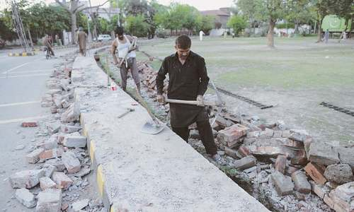 LDA starts work to restore park near Dar house