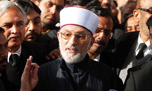 Nawaz trying to flee Pakistan before court verdicts: Qadri