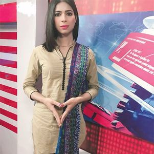 Transgender anchorperson aims to change destiny