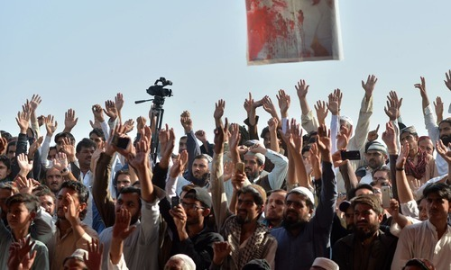 Hundreds respond to protest call by Pashtun movement