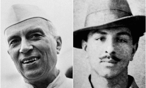 Did Bhagat Singh help Nehru push Congress to demand complete independence?