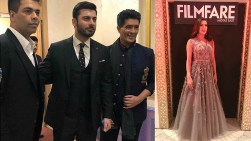 Mehwish Hayat and Fawad Khan honoured at Filmfare Middle East relaunch