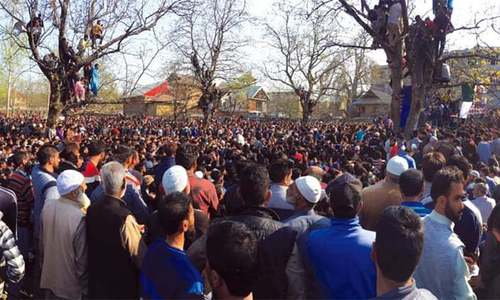 Situationer: A day of funerals in Kashmir