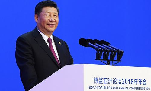 Chinese President Xi Jinping delivers his opening speech at the Boao Forum for Asia Annual Conference in Boao. — AP