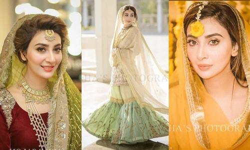 عائشہ خان کی رسم حنا اور نکاح کی تصاویر وائرل