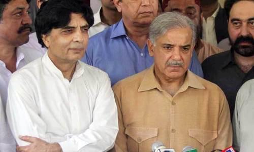 Shahbaz conveys Nisar's reservations to Nawaz
