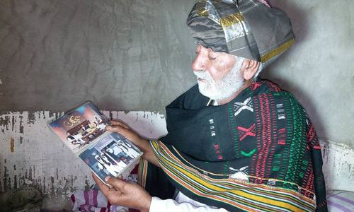 Decorated Baloch folk singer finds himself on the brink of financial ruin