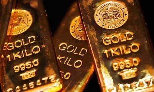 Gold dips