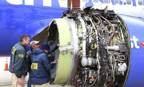 Woman killed after jet engine fails on New York-Dallas flight