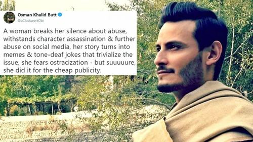 So OKB is the only celebrity who has something to say about the #MeToo movement in Pakistan