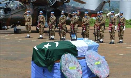 UN honours 7 Pakistani peacekeepers