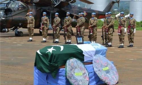 اقوام متحدہ کا 7 پاکستانی فوجیوں کے لیے اعزاز کا اعلان
