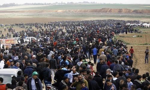 اسرائیلی فوج کے فلسطینیوں کو سرحد سے دور رہنے کیلئے دھمکی آمیز پمفلٹ