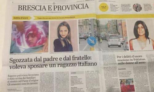 اطالوی اخبار میں شائع ہونے والی خبر کا عکس — فوٹو بشکریہ: عاصم رضا