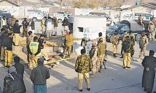 8 security personnel injured in twin blasts near FC checkpost in Quetta