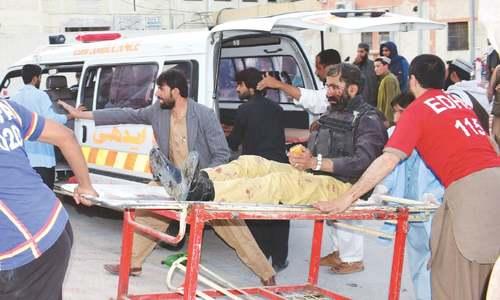 Six policemen martyred, 16 hurt in Quetta suicide blasts