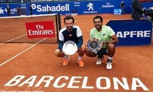 اعصام الحق بارسلونا اوپن ٹینس  ڈبلز کے کوارٹر فائنل میں پہنچ گئے