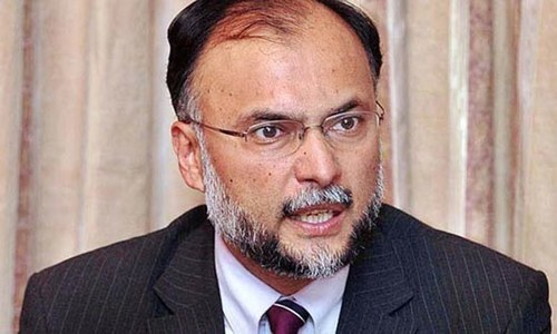 Ahsan Iqbal criticises Justice Saqib Nisar for levelling 'baseless' allegations