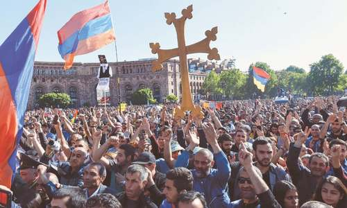 Tens of thousands protest as Armenia crisis deepens