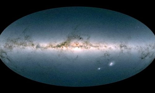 Satellite yields stunning 3-D map of Milky Way