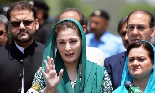 Maryam lashes out at court for disqualifying Khawaja Asif in 'fixed match'