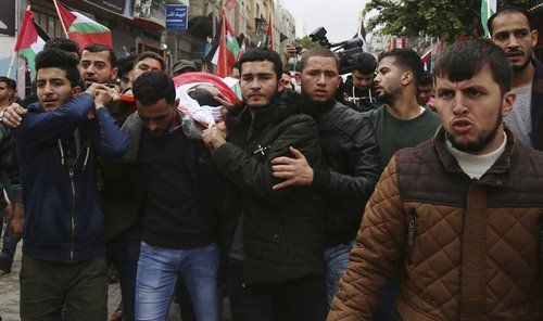 Palestinians bury Gaza journalist, the second killed by Israeli fire this month