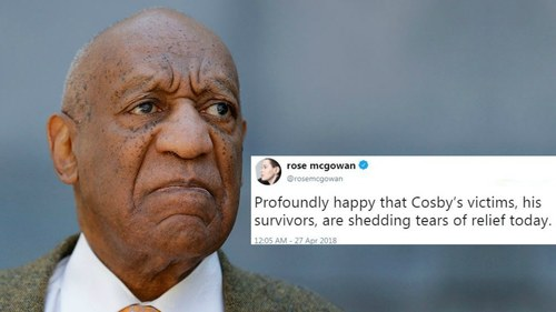 Celebs react after Bill Cosby is found guilty of sexual assault
